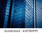 detail glass building... | Shutterstock . vector #610784999