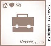 briefcase illustration. flat... | Shutterstock .eps vector #610789040