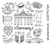 germany hand drawn... | Shutterstock .eps vector #610791764