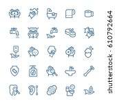 simple icon set of hygiene...   Shutterstock .eps vector #610792664