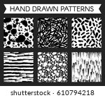 black and white pattern with... | Shutterstock .eps vector #610794218