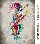 the  centaur  archer horoscope... | Shutterstock . vector #610797674