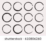 set of grunge circles.vector... | Shutterstock .eps vector #610806260