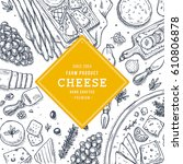 cheese vertical banner... | Shutterstock .eps vector #610806878