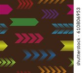 seamless pattern with arrows... | Shutterstock .eps vector #610806953