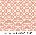 seamless floral pattern. pink... | Shutterstock . vector #610812149