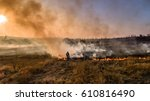 Firefighter Extinguishes The...
