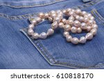 Jeans Pocket And Necklace With...