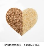 Rice And Buckwheat In The Form...