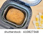 bread machine with pan and... | Shutterstock . vector #610827368