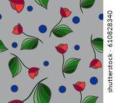 background flowers tulip ... | Shutterstock .eps vector #610828340