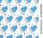 space seamless pattern with... | Shutterstock .eps vector #610828484