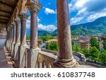 terrace balcony view of... | Shutterstock . vector #610837748