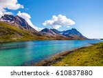 mountain river landscape | Shutterstock . vector #610837880
