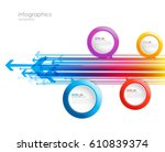 abstract arrows with circles   Shutterstock .eps vector #610839374