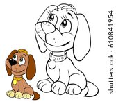 coloring page for children  dog....