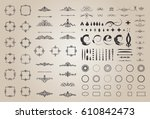 circle and square wicker... | Shutterstock .eps vector #610842473