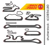race track  racing loop or race ... | Shutterstock .eps vector #610856180