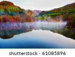 autumn view of lake and... | Shutterstock . vector #61085896