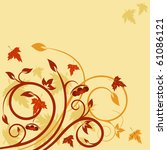 cute natural card with autumnal ... | Shutterstock .eps vector #61086121