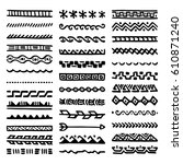 collection of hand drawn... | Shutterstock .eps vector #610871240