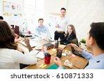 group of multiethnic casual...   Shutterstock . vector #610871333