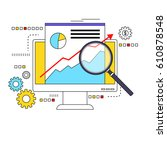 market data analysis concept... | Shutterstock . vector #610878548