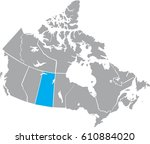 map canada vector | Shutterstock .eps vector #610884020