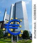 frankfurt am maine  germany  ... | Shutterstock . vector #610888304