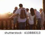 multi generation family... | Shutterstock . vector #610888313
