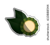 green ecology label icon vector ... | Shutterstock .eps vector #610888544