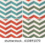 geometric zigzag seamless... | Shutterstock .eps vector #610891070
