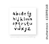 hand drawn alphabet   number  ... | Shutterstock .eps vector #610898168
