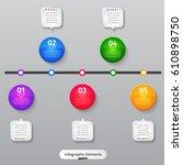 vector infographic elements.... | Shutterstock .eps vector #610898750