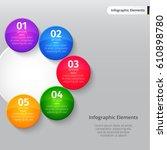 vector infographic elements.... | Shutterstock .eps vector #610898780