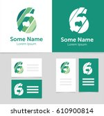 editable business card template ... | Shutterstock .eps vector #610900814