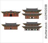 south korea country design flat ... | Shutterstock .eps vector #610902038