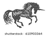 magic is something you make.... | Shutterstock .eps vector #610903364