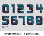 number design vector color | Shutterstock .eps vector #610906283