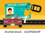 car driver license... | Shutterstock .eps vector #610906649