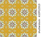 floral seamless pattern with... | Shutterstock .eps vector #610912313