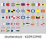 international maritime signal... | Shutterstock .eps vector #610912940