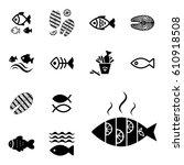 set of fish vector icon...   Shutterstock .eps vector #610918508