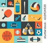 sport  vector flat illustration ...   Shutterstock .eps vector #610924520