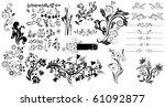 collection of different tattoo...   Shutterstock .eps vector #61092877
