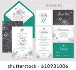 template rustic wedding... | Shutterstock .eps vector #610931006
