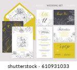 template rustic wedding... | Shutterstock .eps vector #610931033