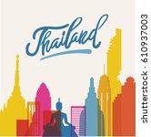 vector bangkok thailand... | Shutterstock .eps vector #610937003