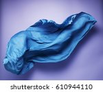 abstract piece of blue fabric... | Shutterstock . vector #610944110