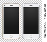 set of gold and white smart... | Shutterstock .eps vector #610953653